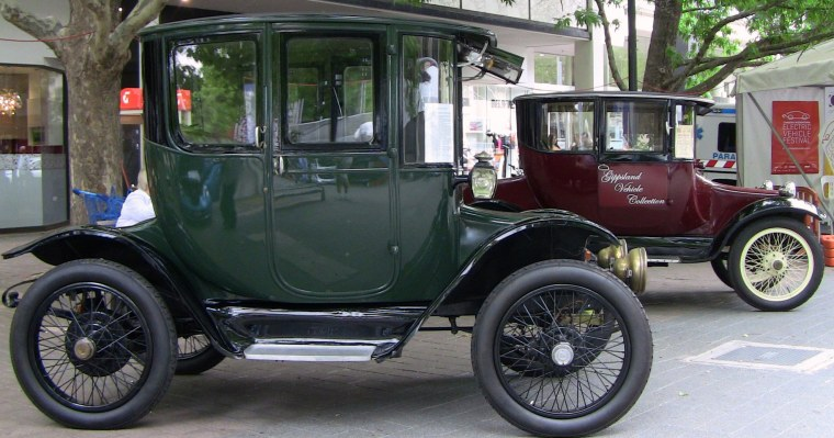 Two Detriot Electric vehicles from the 1910's.  This EV thing is a fad.