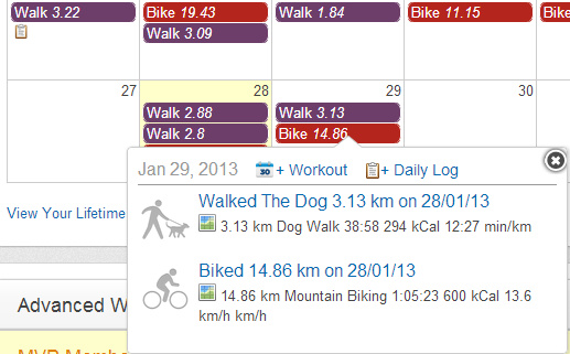 MapMyRide calendar can see your future.
