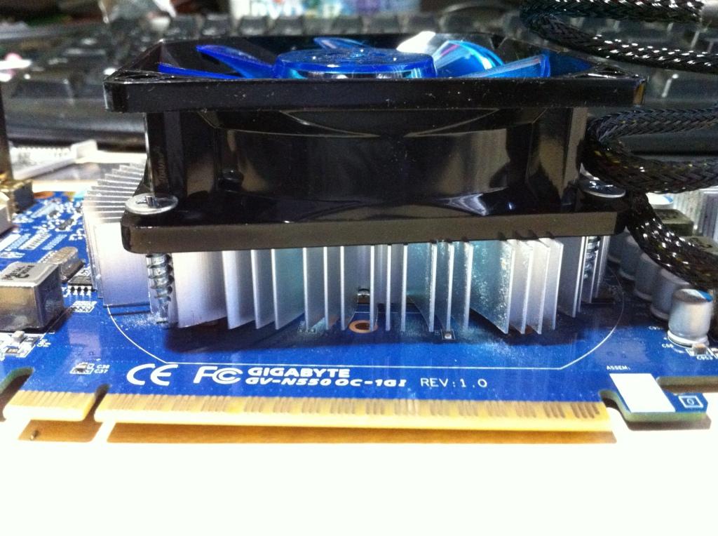 Case fan to replace a video card fan