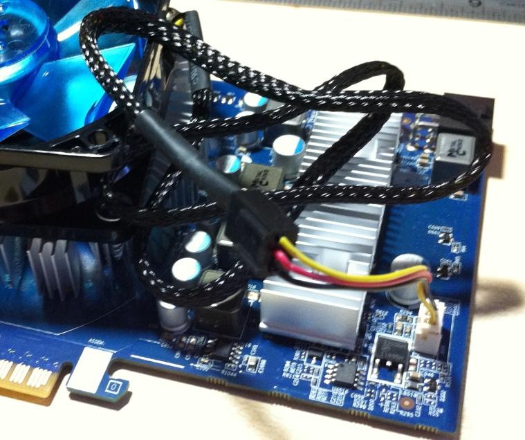 Case fan into a video card fan header