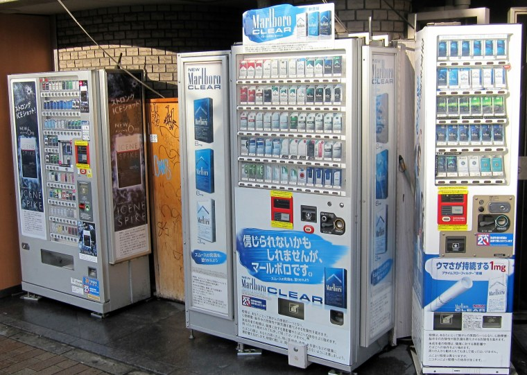 Wait all morning for a cigarette vending machine and then three come at once