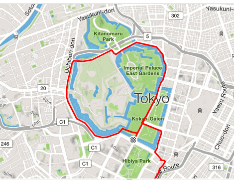 Imperial Palace - anti-clockwise lap