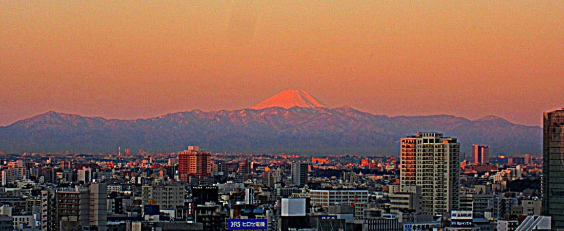 Mt Fuji, winter morning