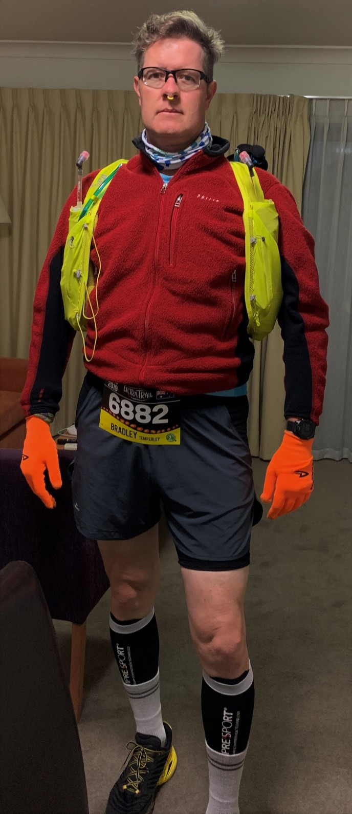 Bradley in full gear ready for UTA50 2019